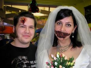 """Jordan """"Zombiemaker"""" Speers and Shana the Undead Bride"""