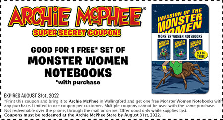 For Archie McPhee we currently have 5 coupons and 4 deals. Our users can save with our coupons on average about $ Todays best offer is 10% off Top 10 items. If you can't find a coupon or a deal for you product then sign up for alerts and you will get updates on every new coupon added for Archie McPhee.